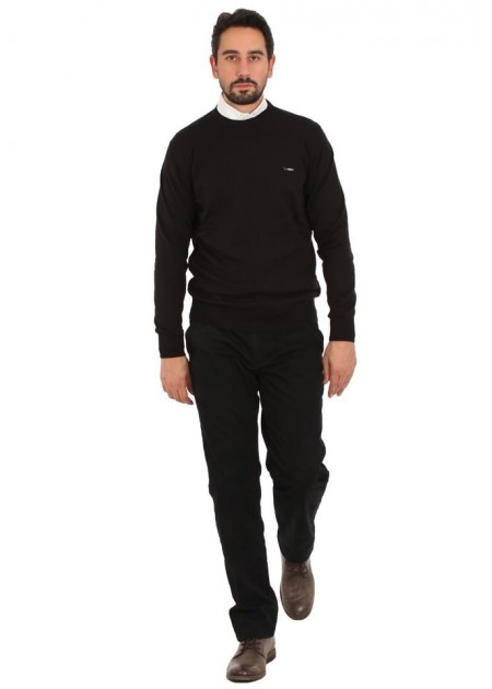 Kazak - Casual Autumn Pullover - Siyah