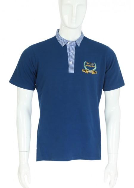 Gömlek Yaka T-Shirt Lacivert -  Lacivert