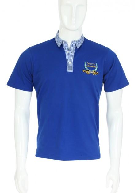 Gömlek Yaka T-Shirt Mavi / Lacivert