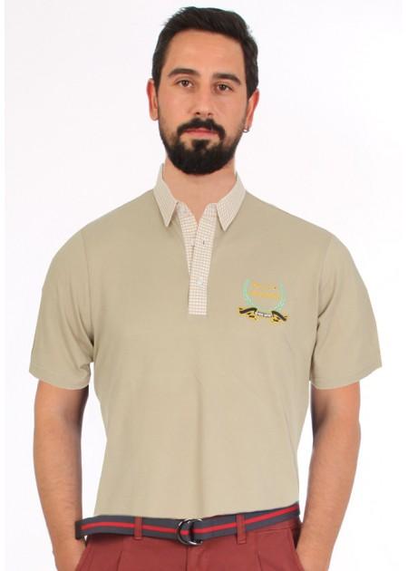 Gömlek Yaka T-Shirt Bej - Bej