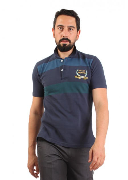 Polo T-shirt Navy Blue Line